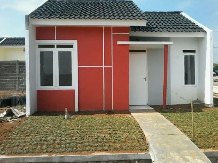 Desain rumah cantik oranye
