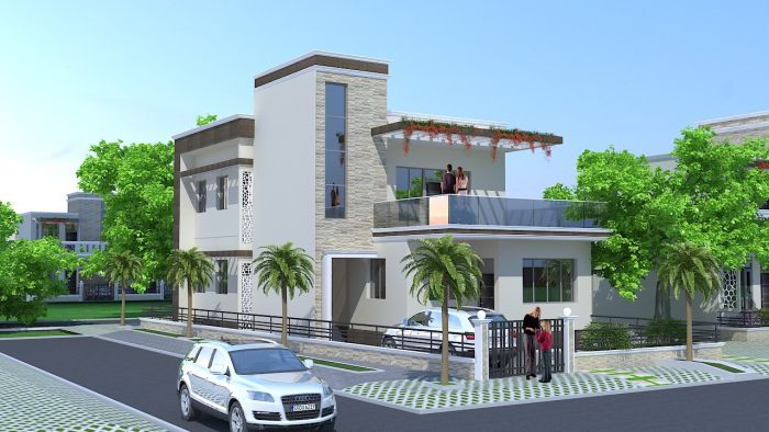 Rumah Dua Lantai Sederhana