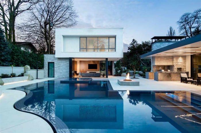 Contoh Desain Rumah Mewah Nuansa Musim Dingin
