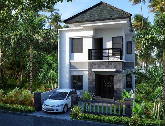 Contoh Rumah Bali Modern Batu Alam