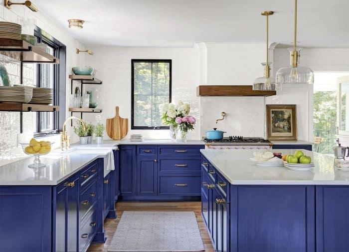 40 Contoh Desain Dapur Warna Biru