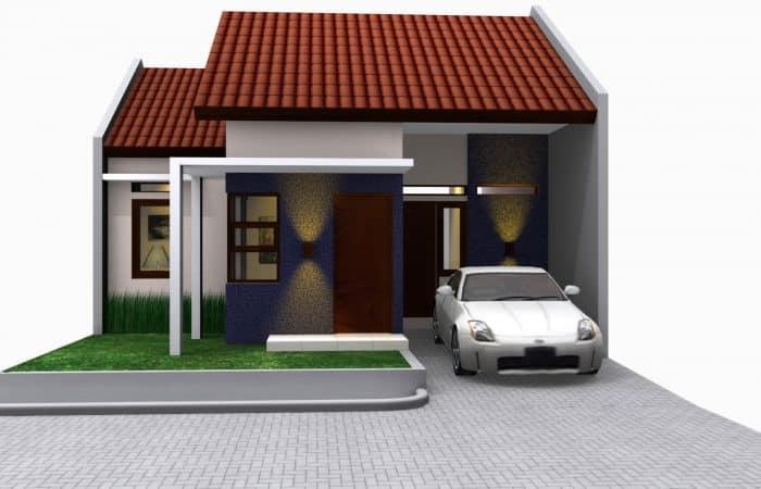Contoh desain rumah dengan garasi terbuka