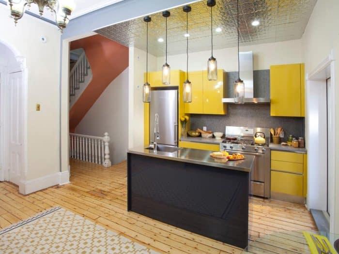 Dapur Cerah Warna Kuning Ala Cafe