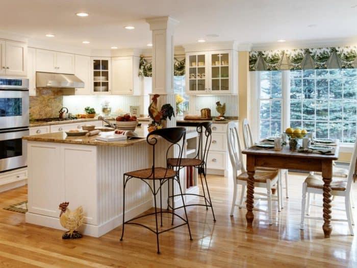 Dapur Kombinasi Putih Coklat Lantai 2