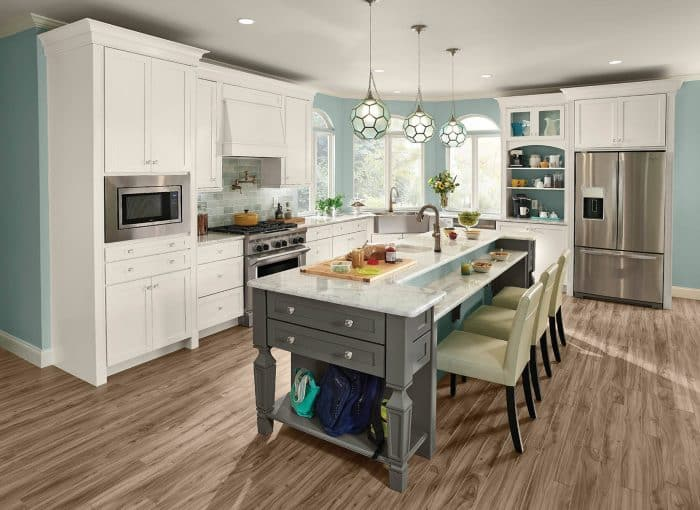 Dapur Mini Warna Tosca Untuk Lantai 2