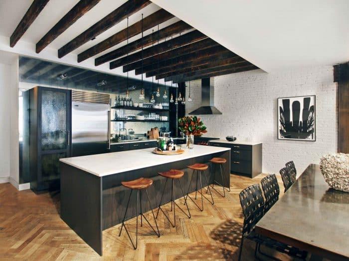 Dapur Monokrome Kitchen Set Mengkilap