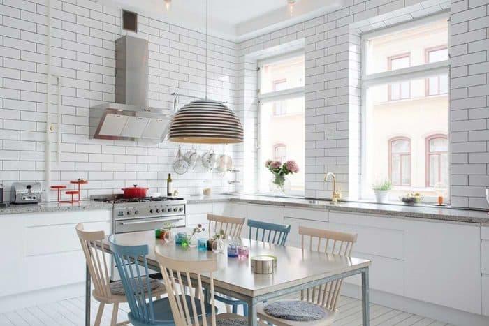 Dapur Putih Mini Bentuk L