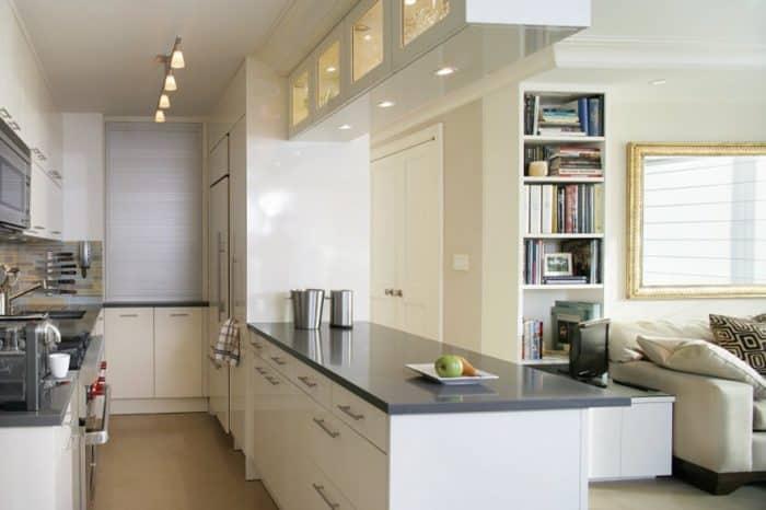 Dapur Putih Minimalis Double Line