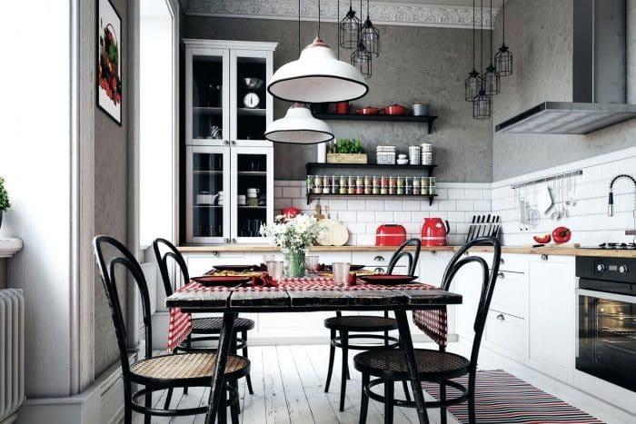 Dapur Putih Modern Ala Caffe di Eropa