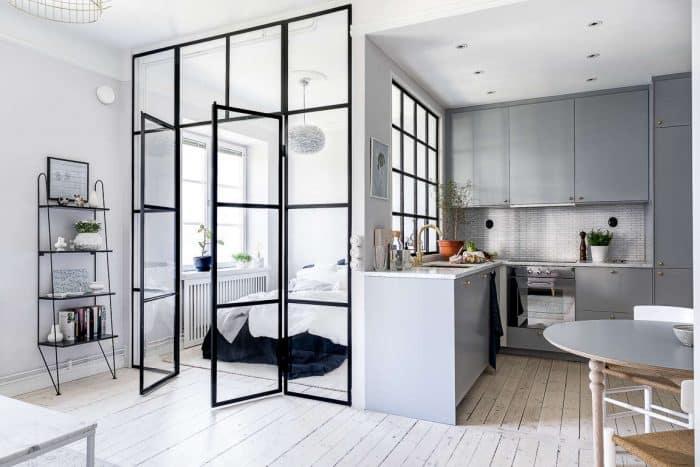 Dapur Sempit Grey Samping Kamar