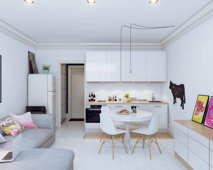 Dapur Single Line Warna Putih
