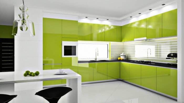 Desain Dapur Warna Hijau Cantik