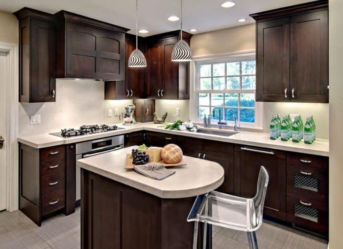 Desain Dapur Sederhana Warna Putih Coklat