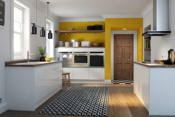 Desain Dapur Unik dengan Variasi Warna