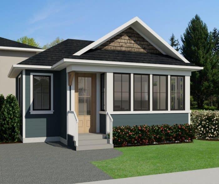 Desain Modern Rumah Bentuk Sejajar