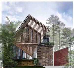 desain rumah lantai 2 dengan tingkat seni tinggi
