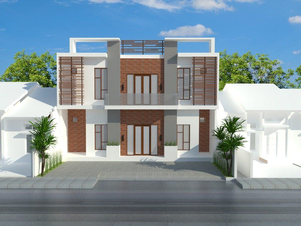 Desain Rumah Mewah Lantai 2 Coklat Thegorbalsla