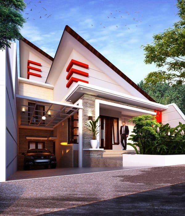 Desain Rumah Modern Segitiga Siku-Siku