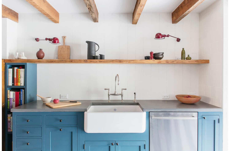 Desain dapur cantik sederhana dengan rak kayu - Thegorbalsla