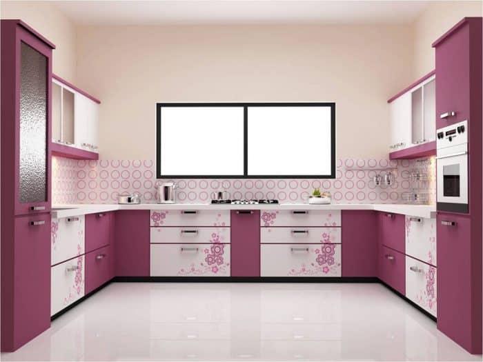 45 Contoh Desain Dapur Warna Ungu