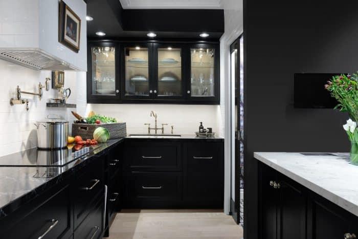 40 Contoh Desain Dapur Warna Hitam Modern Dan Minimalis