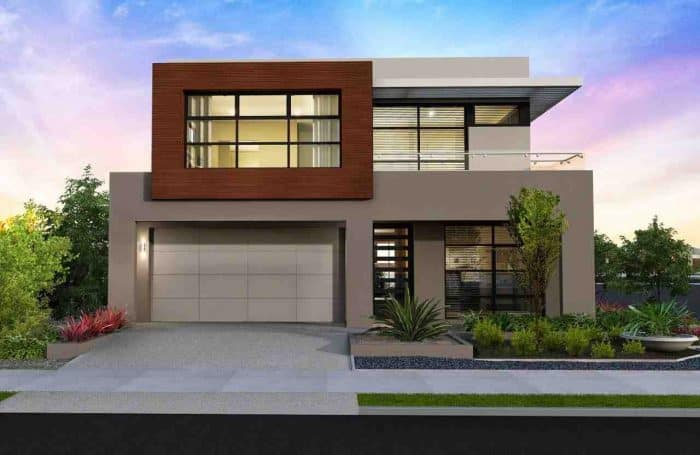 Rumah 2 lantai modern minimalis