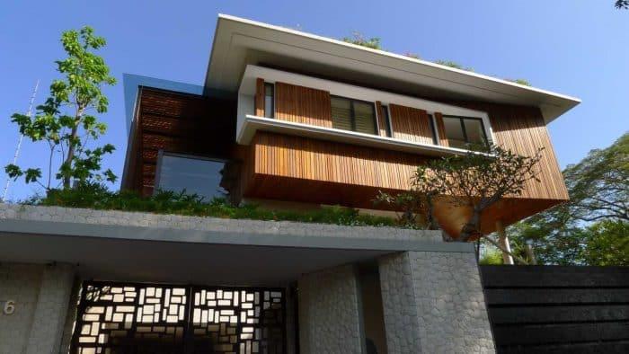 Rumah 2 lantai modern natural