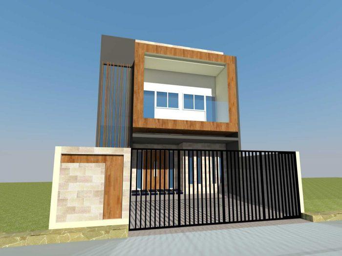 Rumah Kotak 2 Lantai