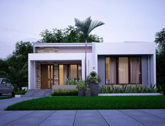 Rumah Kotak Tiga Atap