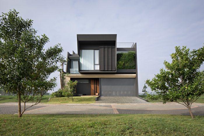Rumah Kotak tanpa Balkon