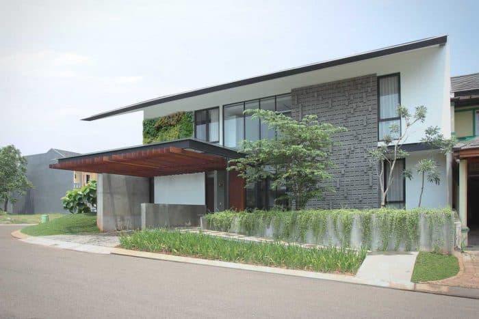 Rumah Mewah Modern Minimalis Atap Rendah