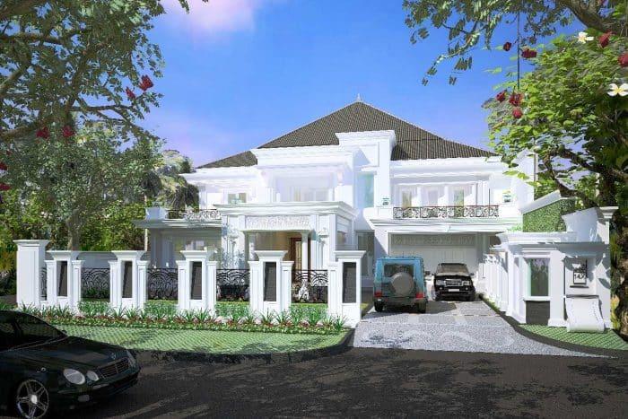 Rumah Mewah dengan Garasi