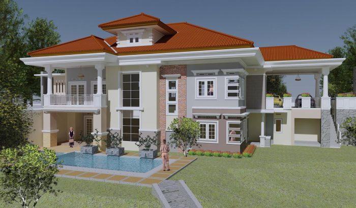 Rumah Mewah dengan Perpaduan Warna Lembut