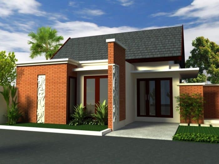 Rumah Modern Bali dengan Pembatas