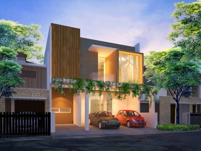 Rumah Modern Berkonsep Glow