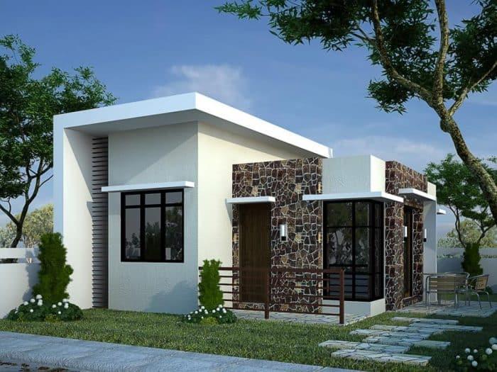 Rumah Modern Dua Atap