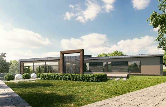 Rumah Modern Konsep Lurus