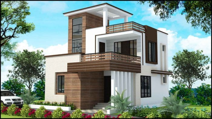 Rumah Modern Minimalis 4 Pilar