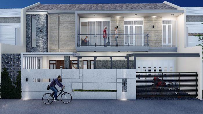 Rumah dengan lahan lebar memanfaatkan jendela besar
