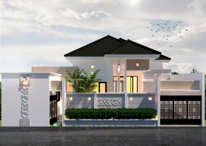 Rumah elegan dengan tema modern