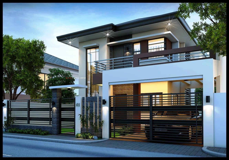 Rumah Minimalis 2 Lantai Dengan Pagar - Thegorbalsla