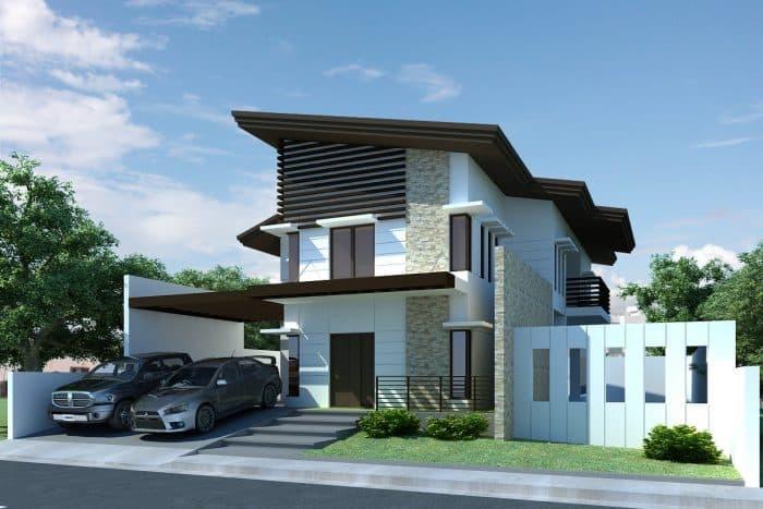 Rumah minimalis modern dengan carport