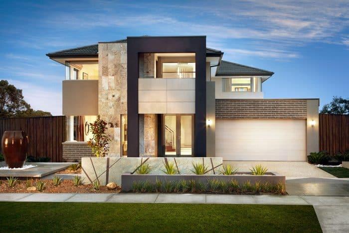 Rumah modern 2 lantai lahan luas