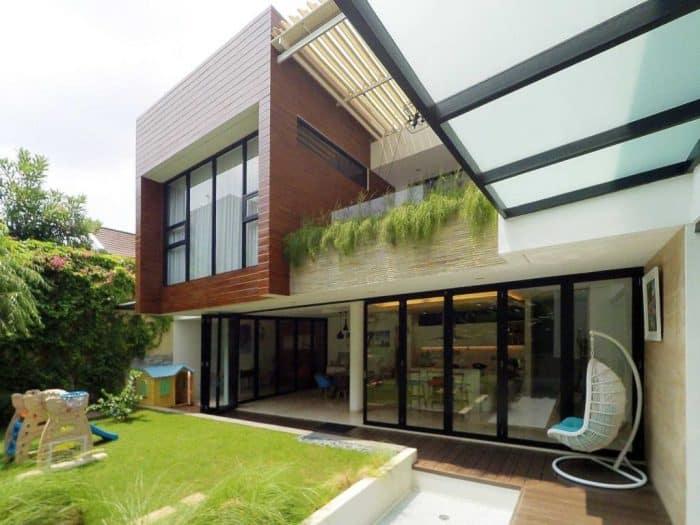 Rumah modern asimetris