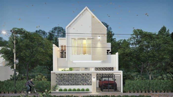 Rumah modern minimalis 2 lantai dengan lahan sempit