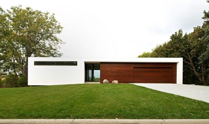 Rumah modern minimalis lebar