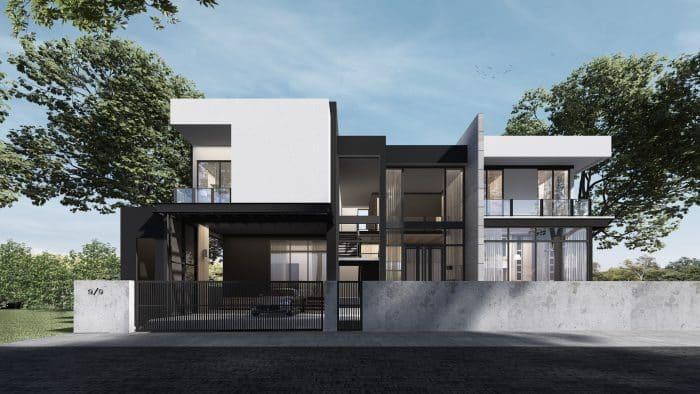 Rumah 2 lantai dengan lahan luas