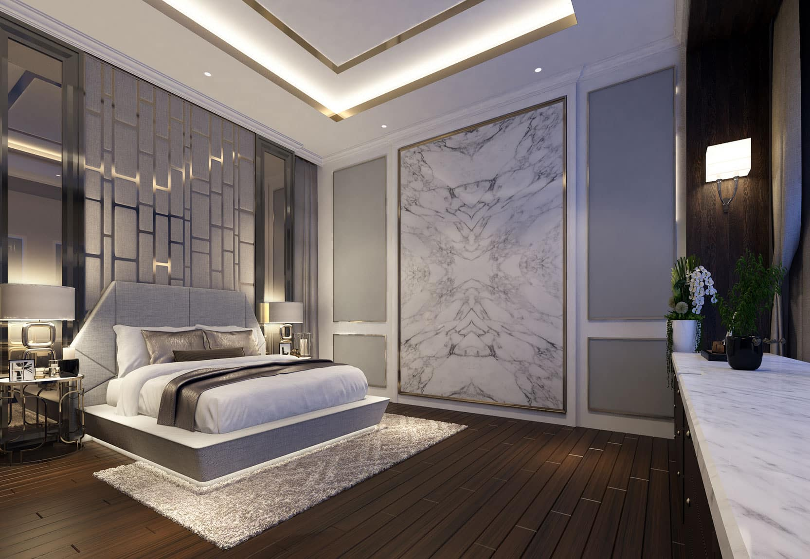 Desain Kamar Tidur Unik Bergaya Monokrom Thegorbalsla