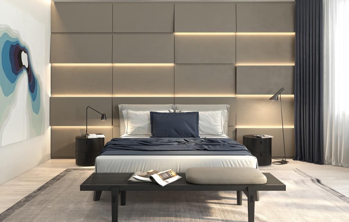 Desain Kamar Tidur Unik Monokrom Minimalis