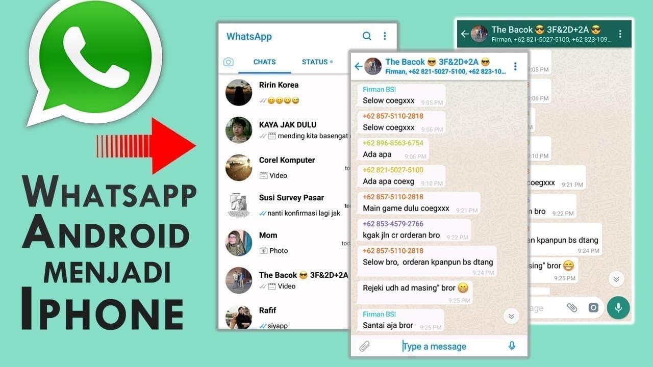 cara agar tampilan whatsapp seperti